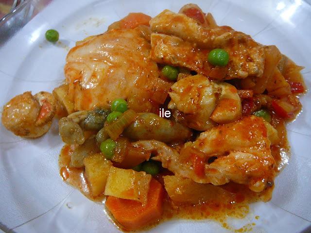 Chupin de pescado - Cazuela de pescado