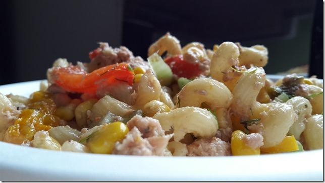 Salade  de Cellentani au thon et aux poivrons