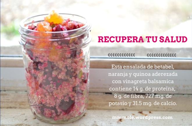 Ensalada de Betabel, Naranja y Quinoa
