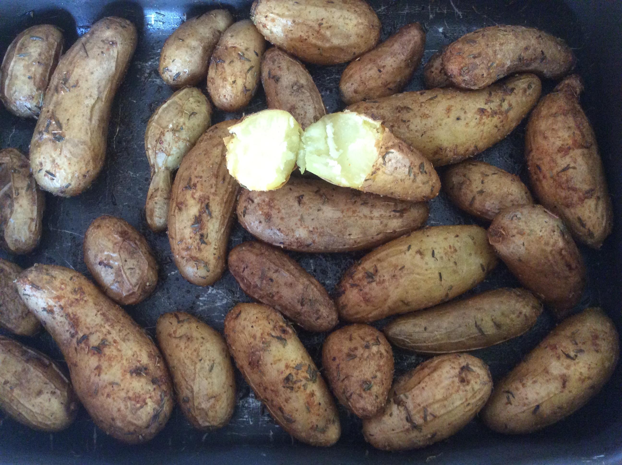 Pommes de terre rattes au four