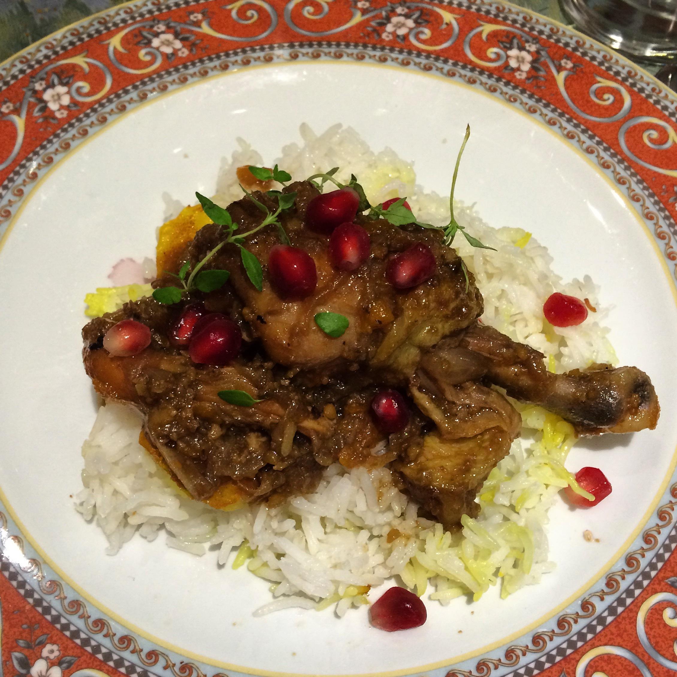 Fesenjan – frango com romã e nozes