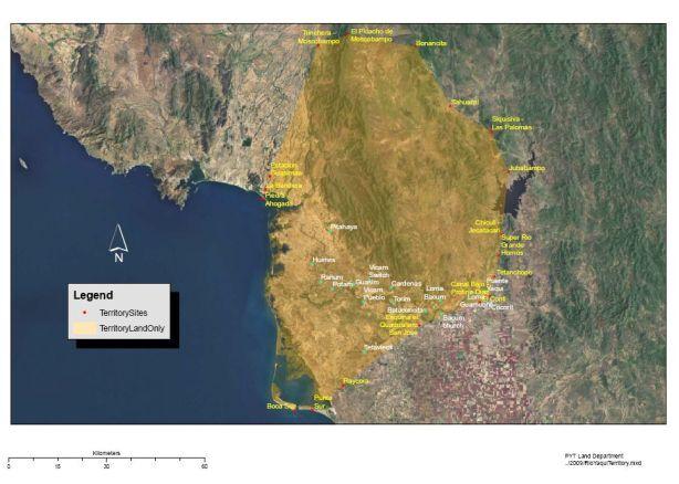 Demarcacion Territorial de los pueblos Yaquis en Sonora