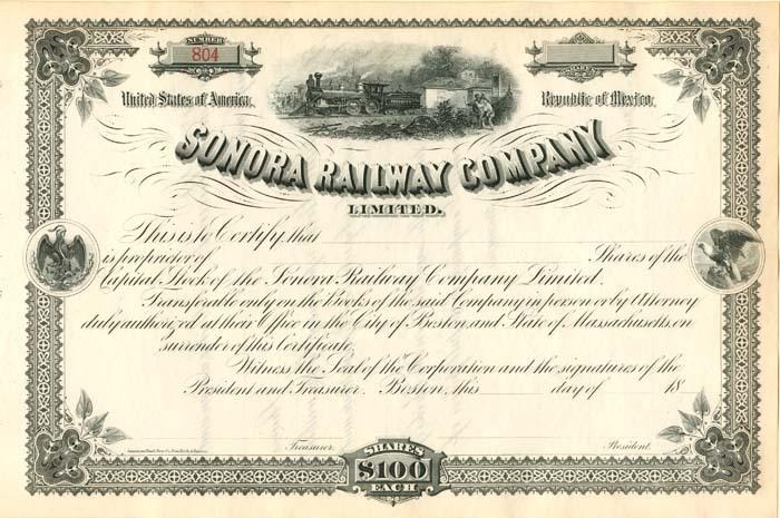 El Ferrocarril de Sonora