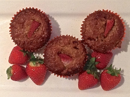 Orange, Cranberry & Strawberry Muffins