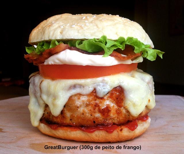 Hambúrguer de peito de frango