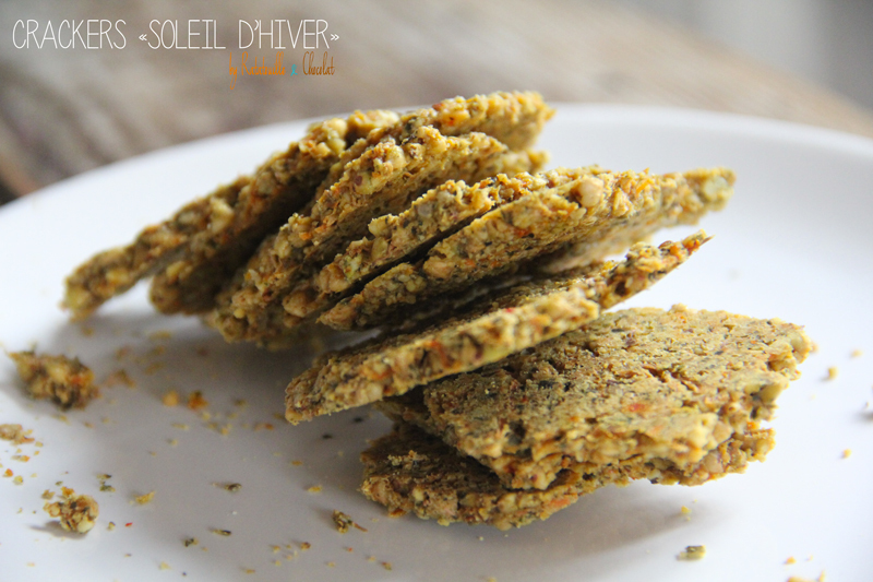 Raw food : crackers « soleil d'hiver »