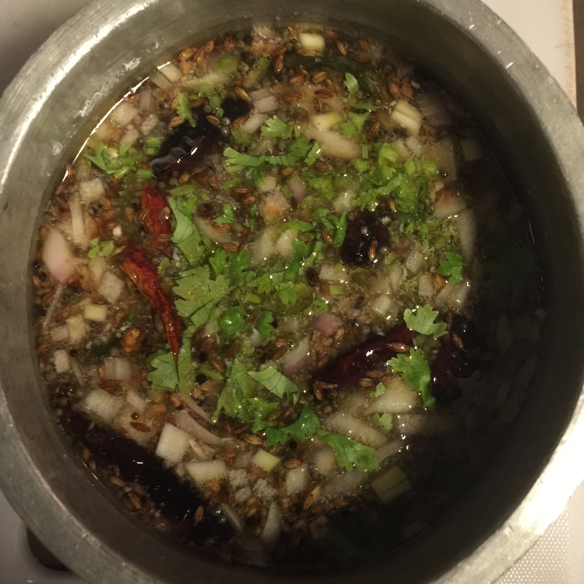 Eating in the Raw — Rasam week – Pachi Pulusu (Raw Spiced Tamarind broth)
