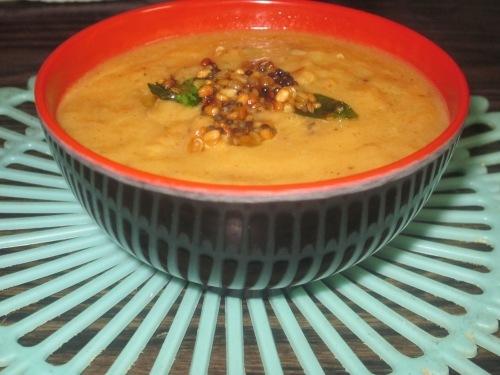 Dosakaya Patchadi (Yellow Cucumber Pulp Chutney)