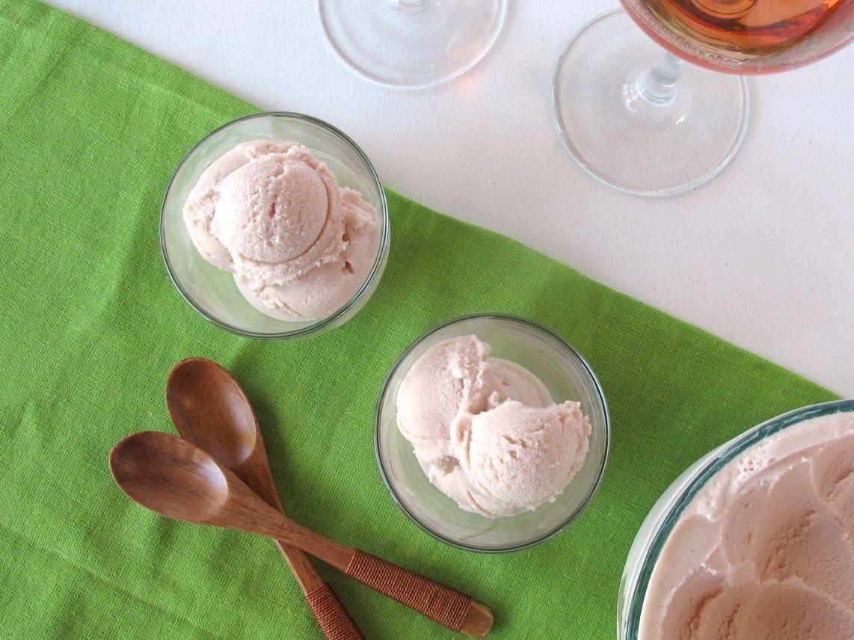 Pomegranate Rosé Frozen Yogurt