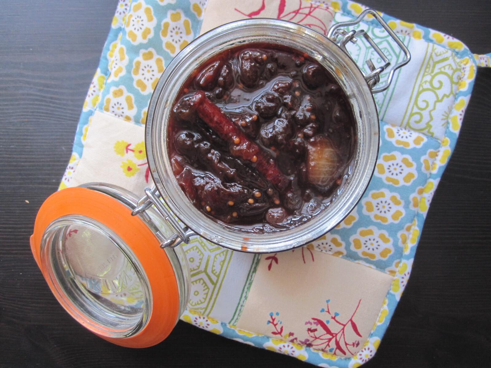 Chutney épicé de prunes, ou comment conserver l'été en prévision de l'hiver