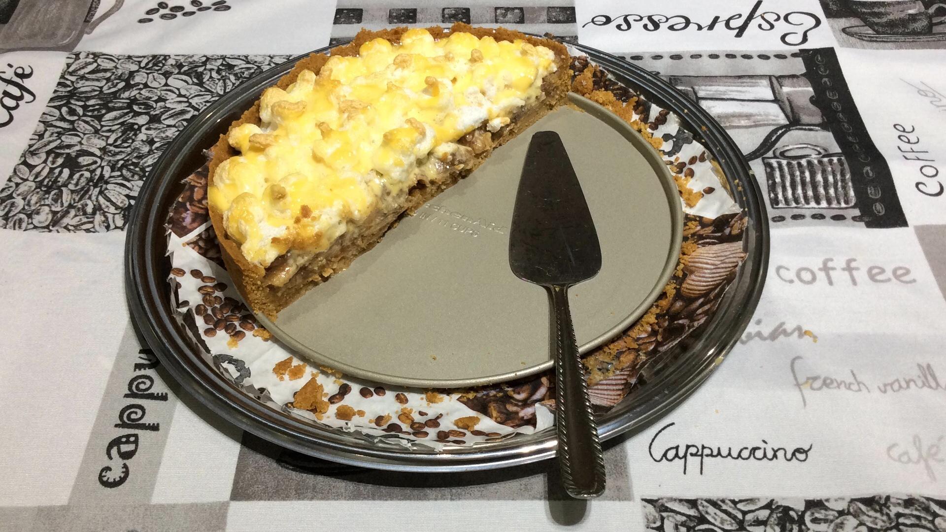 de torta de biscoito de maizena e banana nanica