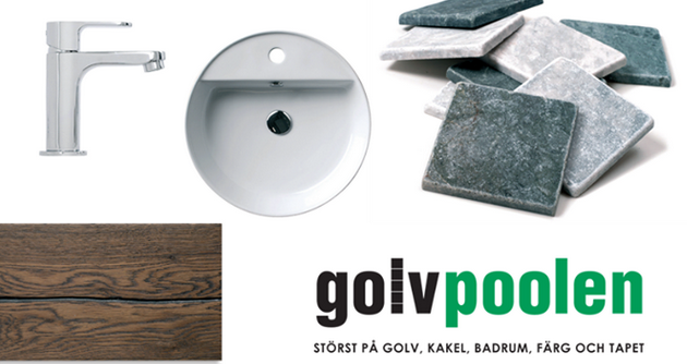 Golvpoolen är Sveriges största varuhus inom golv, kakel, badrum, färg & tapet