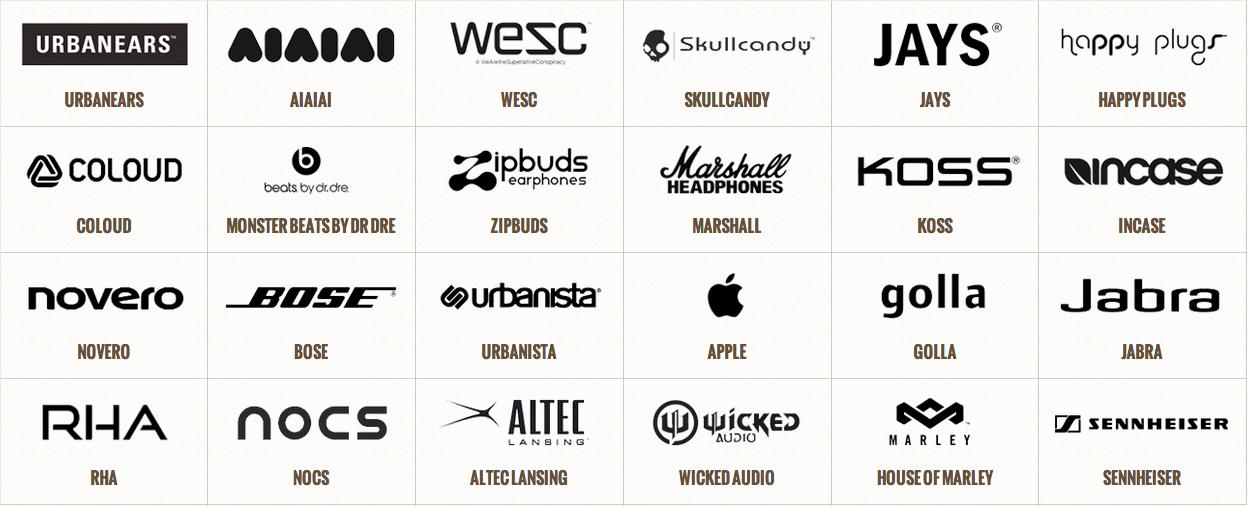 Över 500 sorters hörlurar till konkurrenskraftiga priser