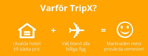 Boka flyg & hotell billigt på TripX.se