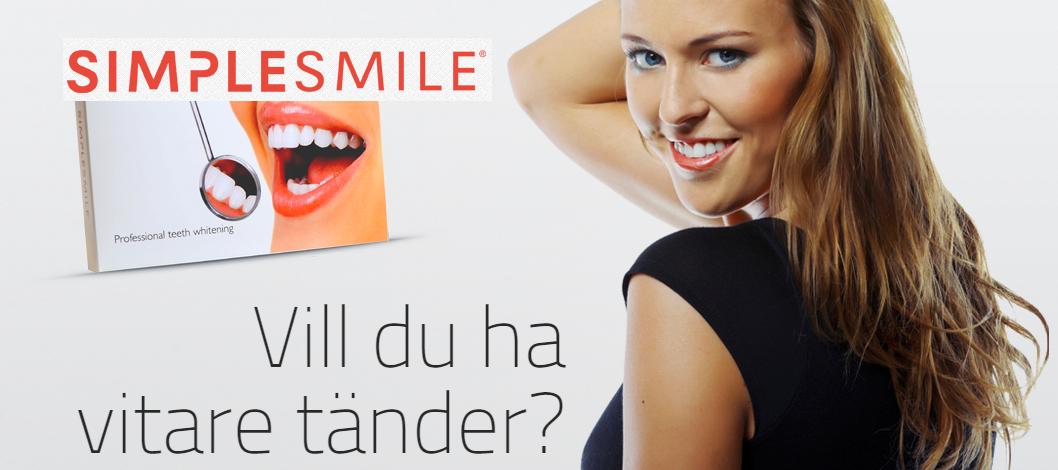 SimpleSmile har billig tandblekning för hemmabruk