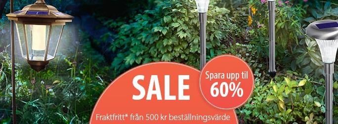 Upp till 60% rabatt på lampor