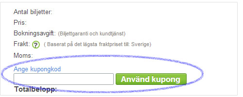 kupongkoder till Viagogo.se