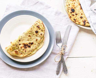 Avocado paratha plat brood