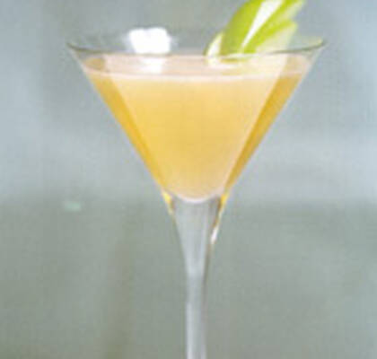 Apple mint martini