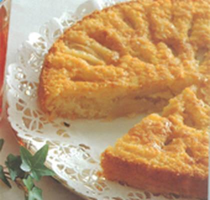 päronkaka med mandelmassa