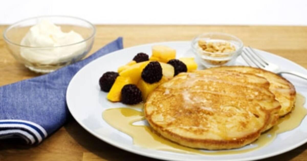 amerikanska pannkakor vaniljyoghurt