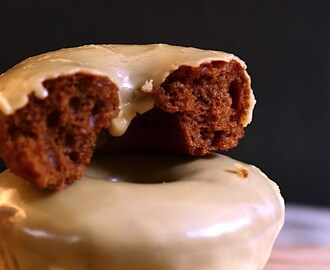 Gingerbread Doughnuts with Whiskey Glaze