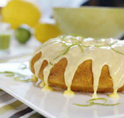 Saftig lemon lime kaka