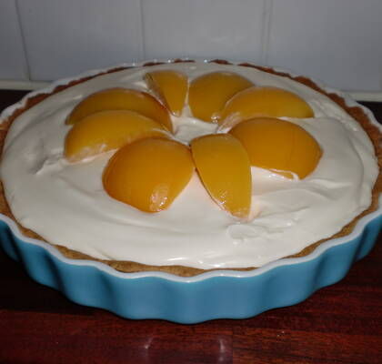 Peach Cream Pie