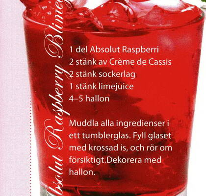 Absolut raspberry bliney