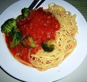 pastasås på överbliven julskinka
