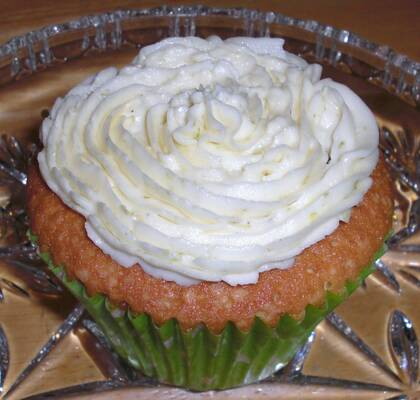 Lime cupcakes med lime frosting