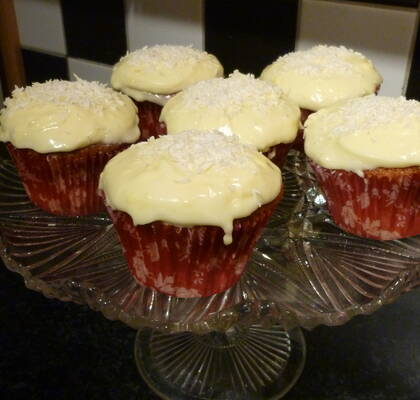 Cupcake med citrontopping