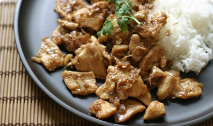 Garlic and pepper chicken (gai pad gratiem prik thai)