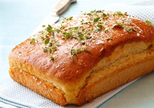 Foccacia bakad med cottage cheese
