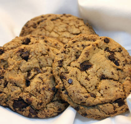 Stora, maffiga chocolate chip cookies