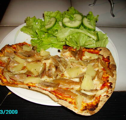 Kycklingpizza, 1 portion,