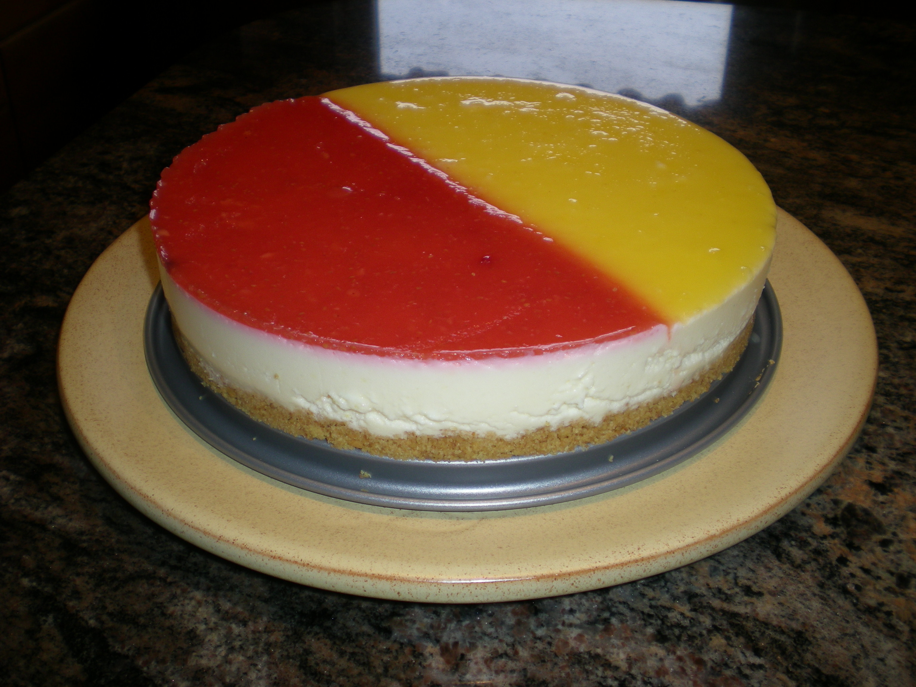Citroncheesecake med passionsfrukt