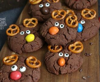 Double Chocolate Speculoos Reindeer Cookies