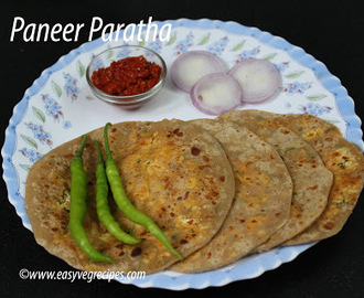 Paneer Paratha Recipe -- How to make Paneer Paratha