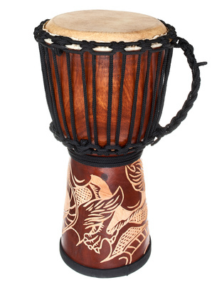 Terre Djembe Carved Dragon 40cm
