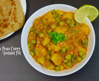 INSTANT POT Potato Peas Curry|Aloo Matar ki Subji|Potato Peas Curry in PressureCooker