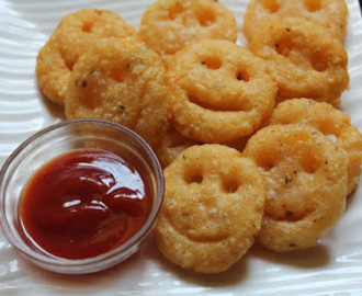 Smiley Fried Potato Chesse