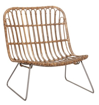 Hübsch Lounge chair korgstol