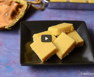 Besan Coconut Burfi Recipe Video