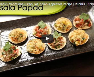 Masala Papad Recipe Video