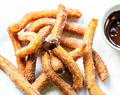 Homemade Spanish churros