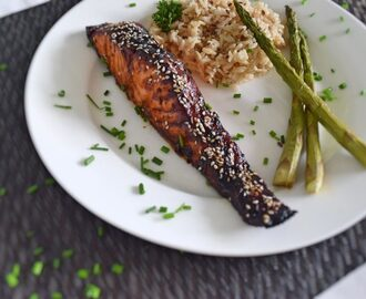 Salmon with soy sauce