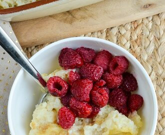 Baked White Chocolate Rice Pudding