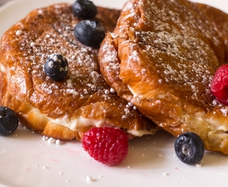 Berries and Cream Stuffed French Toast Croissants