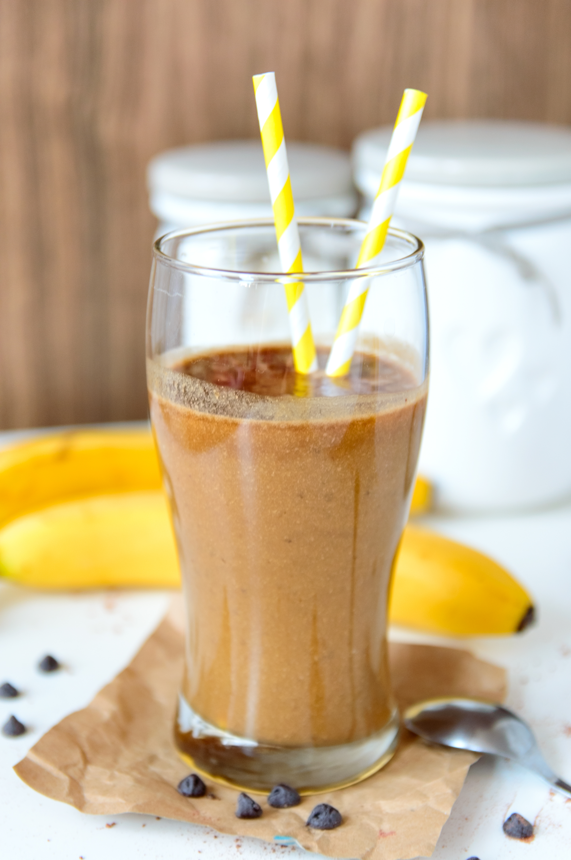 Peanut Butter, Banana and Coffee Smoothie